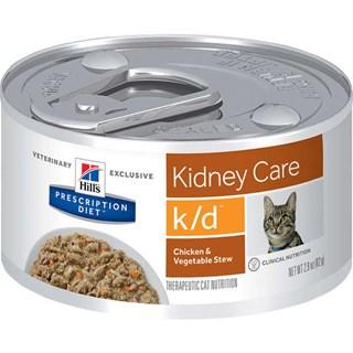 Ração Úmida Hills Feline K/D Sabor Frango e Vegetais Para Gatos Adultos