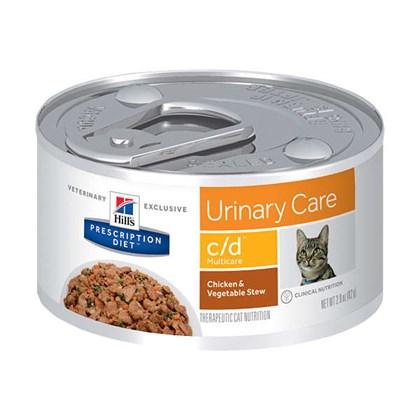 Ração Úmida Hills Feline Multicare Prescription Diet C/D Para Gatos Adultos
