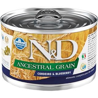 Ração úmida Lata Farmina N&D Ancestral Grain Cordeiro & Blueberry para Cães Adultos