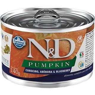 Ração úmida Lata Farmina N&D Pumpkin Cordeiro. Abóbora & Blueberry para Gatos Adultos