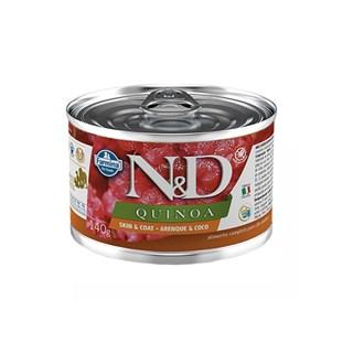 Ração Úmida Lata Farmina N&D Quinoa Skin & Coat Arenque & Coco para Cães Adultos