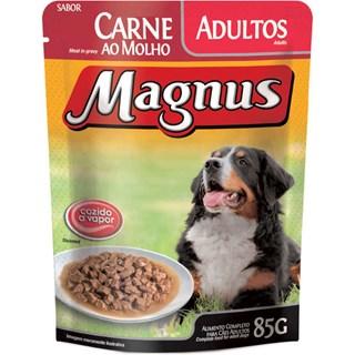 Ração Úmida Magnus Sabor Carne Ao Molho Leve 12 Pague 10 Para Cães Adultos