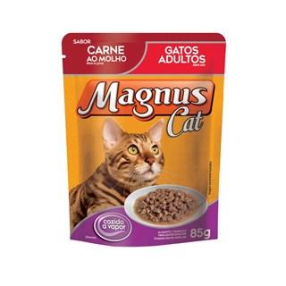 Ração Úmida Magnus Sabor Carne Ao Molho Leve 12 Pague 10 Para Gatos Adultos