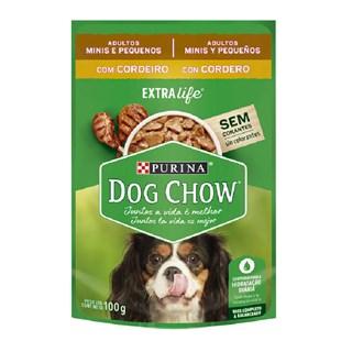 Ração úmida Nestlé Purina Dog Chow Sachê Cordeiro Cães Adultos Raças Minis e Pequenas