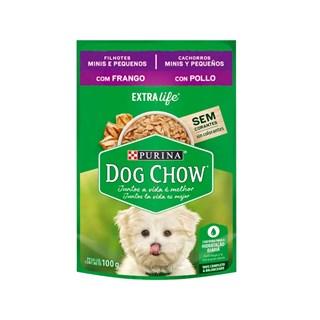 Ração Úmida Nestlé Purina Dog Chow Sachê Frango para Cães Filhotes Raças Mini e Pequenas