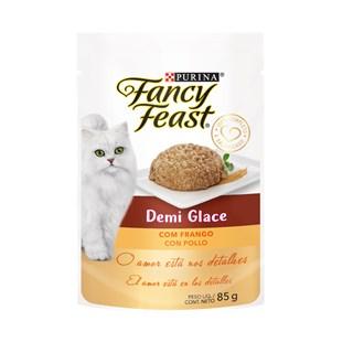 Racão úmida Nestlé Purina Fancy Feast Sachê Demi Glace com Frango para Gatos Adultos
