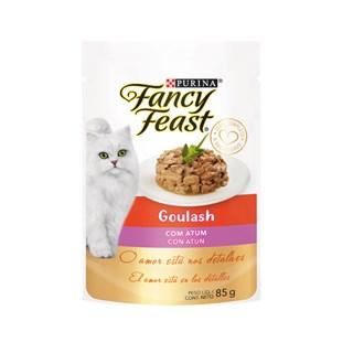 Racão úmida Nestlé Purina Fancy Feast Sachê Goulash com Atum para Gatos Adultos