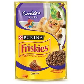 Ração úmida Nestlé Purina Friskies Sachê Cordeiro ao Molho para Gatos