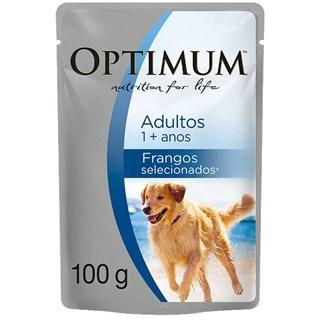 Ração Úmida Optimum Sachê Frango Para Cães Adultos De Raças Grandes