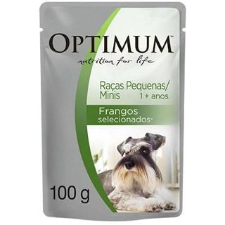Ração Úmida Optimum Sachê Frango Para Cães Adultos De Raças Pequenas e Mini
