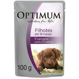 Ração Úmida Optimum Sachê Frango Para Cães Filhotes