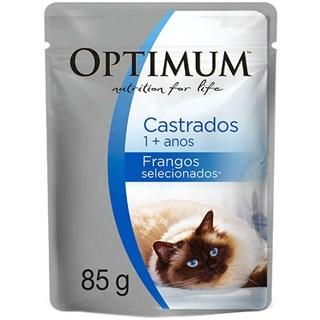 Ração Úmida Optimum Sachê Frango Para Gatos Adultos Castrados