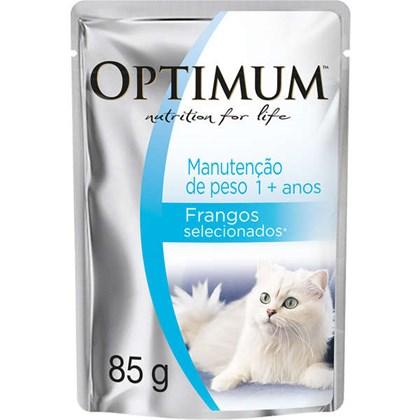 Ração Umida Optimum Sachê Manutenção De Peso Frango Para Gatos Adultos