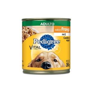 Ração Úmida Pedigree Lata Patê de Frango para Cães Adultos