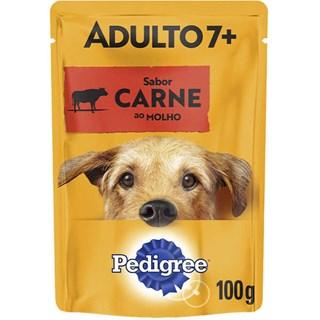 Ração úmida Pedigree Sachê Carne ao Molho para Cães Sênior 7 + Anos