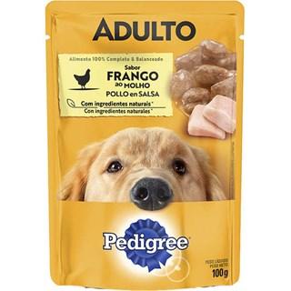 Ração úmida Pedigree Sachê Frango ao Molho para Cães Adultos