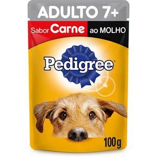 Ração Úmida Pedigree Sachê Vitalpro Carne Ao Molho Para Cães Adultos 7+