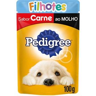Ração Úmida Pedigree Sachê Vitalpro Carne Ao Molho Para Cães Filhotes