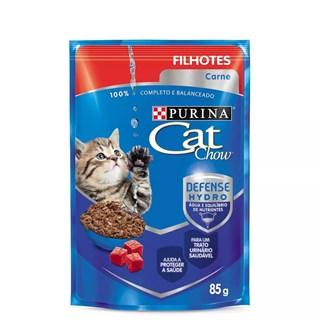 Ração Úmida Purina Cat Chow Carne ao Molho para Gatos Filhotes