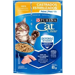 Ração Úmida Purina Cat Chow Para Gatos Castrados Sabor Peixe