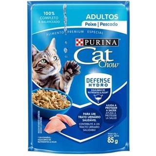 Ração Úmida Purina Cat Chow Peixe ao Molho para Gatos Adultos
