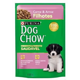 Ração Úmida Purina Dog Chow Carne e Arroz Para Cães Filhotes