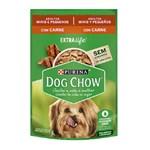 Ração Úmida Purina Dog Chow Para Cães Adultos De Raças Pequenas Sabor Carne e Arroz