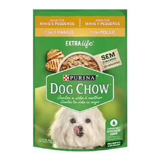 Ração Úmida Purina Dog Chow Para Cães Adultos De Raças Pequenas Sabor Frango e Arroz