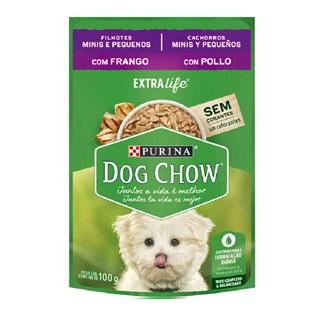 Ração Úmida Purina Dog Chow Para Cães Filhote Sabor Frango e Arroz