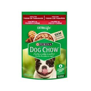 Ração Úmida Purina Dog Chow Sabor Mix de Frango e Carne para Cães Adultos