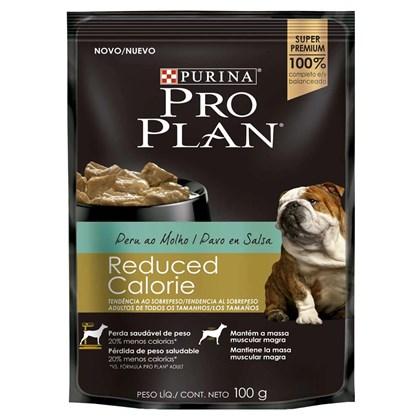 Ração Úmida Purina Pro Plan Reduced Calorie Sabor Peru Ao Molho Para Cães Adultos