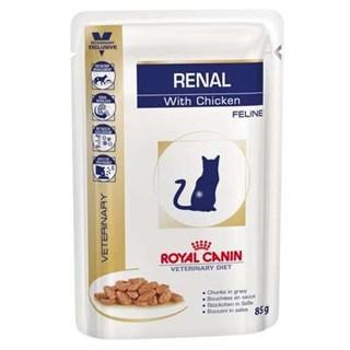 Ração Úmida Royal Canin Feline Veterinary Diet Renal Frango para Gatos