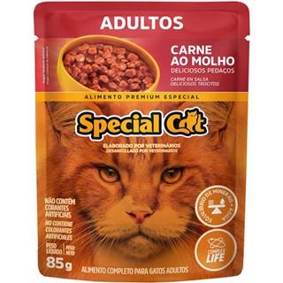 Ração Úmida Special Cat Sabor Carne Para Gatos Adultos