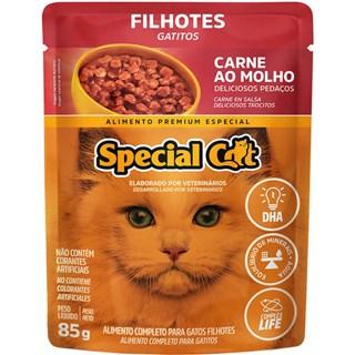 Ração Úmida Special Cat Sabor Carne Para Gatos Filhotes