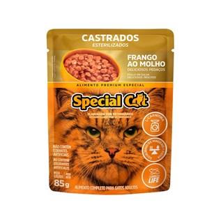 Ração Úmida Special Cat Sabor Frango para Gatos Castrados
