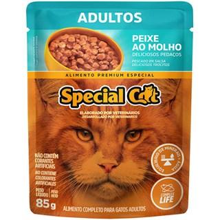 Ração Úmida Special Cat Sabor Peixe Para Gatos Adultos