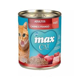 Ração Úmida Total Max Cat Patê Sabor Carne e Frango para Gatos Adultos