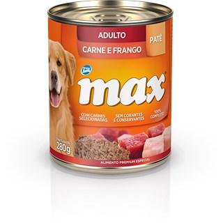 Ração Úmida Total Max Patê Sabor Carne e Frango para Cães Adultos