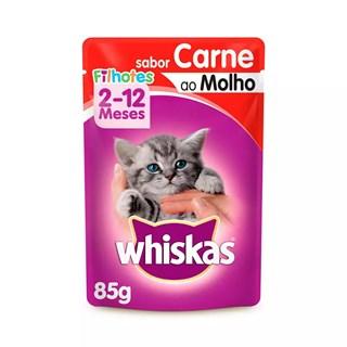 Ração Úmida Whiskas Carne ao Molho para Gatos Filhotes