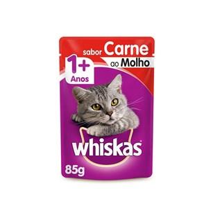 Ração úmida Whiskas Sachê Carne ao Molho para Gatos Adultos