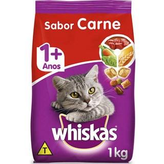 Ração Whiskas Carne Adulto - 1kg