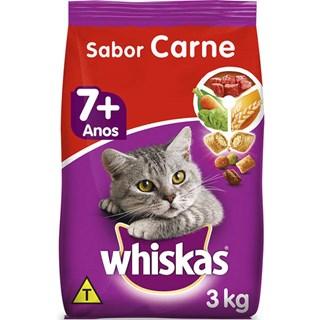 Ração Whiskas Carne Para Gatos Adultos 7 +