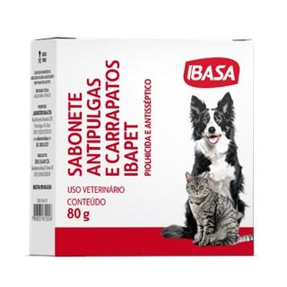 Sabonete Antisséptico Ibasa Ibapet Antipulgas e Carrapatos Para Cães e Gatos