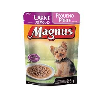 Sachê Magnus Premium Carne Ao Molho Para Cães Adultos De Raças Pequenas