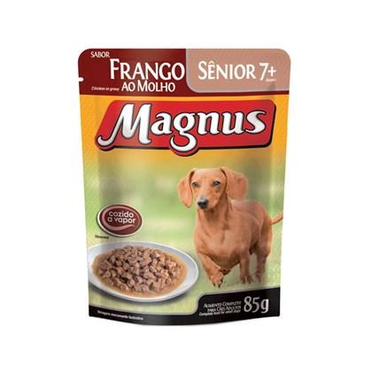 Sachê Magnus Premium Frango Ao Molho Para Cães Adultos 7+