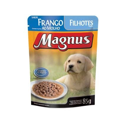 Sachê Magnus Premium Frango Ao Molho Para Cães Filhotes