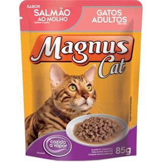 Sachê Magnus Premium Salmão Ao Molho Para Gatos Adultos