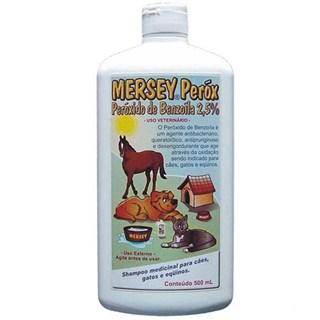 Shampoo Antibacteriano Mersey Peróx Peróxido De Benzoíla Para Cães. Gatos e Equinos