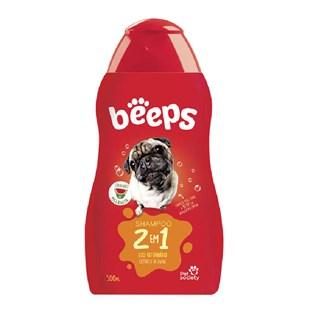Shampoo Pet Society Beeps 2 em 1 para Cães e Gatos