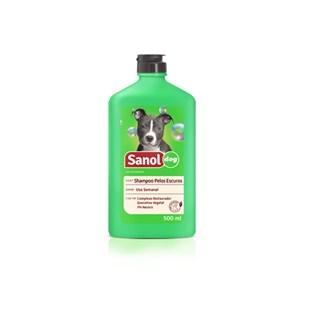 Shampoo Sanol Dog Pelos Escuros Para Cães e Gatos